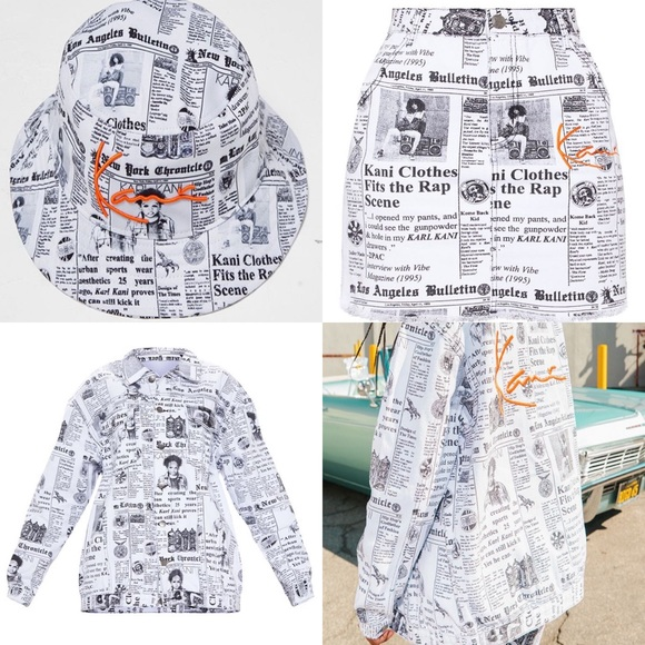 7b92de0c764d2 KARL KANI Newspaper Fit. M 5c620ad4df0307091de90641